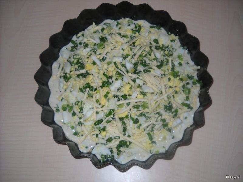 Пирог с яйцом и сыром рецепт