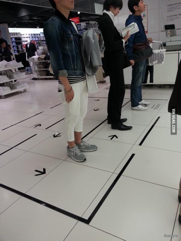 Очередь по Японски