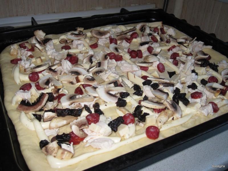 Пицца по домашнему в духовке пошаговый рецепт