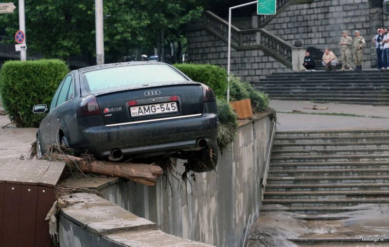 Наводнение в грузинском зоопарке