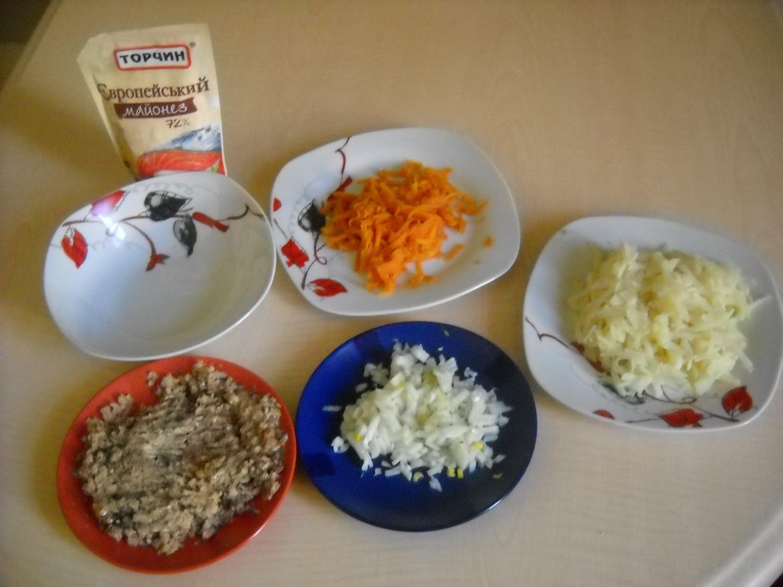 Классический рецепт мимозы