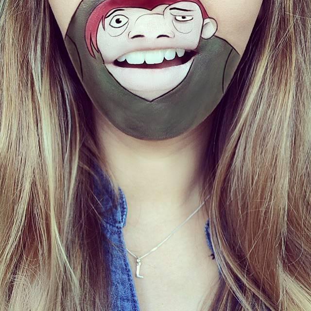 Липарт: девушка рисует на губах