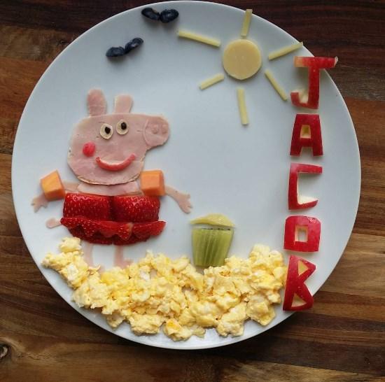 Правильная сервировка детского завтрака