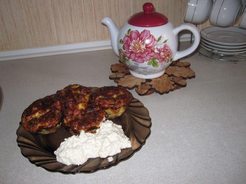 Кабачковые маффины с ветчиной рецепт