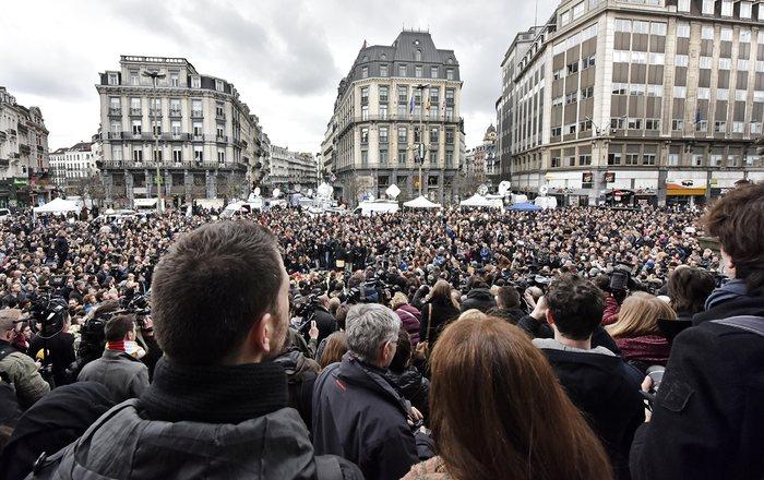Шок и тишина: Брюссель после терактов