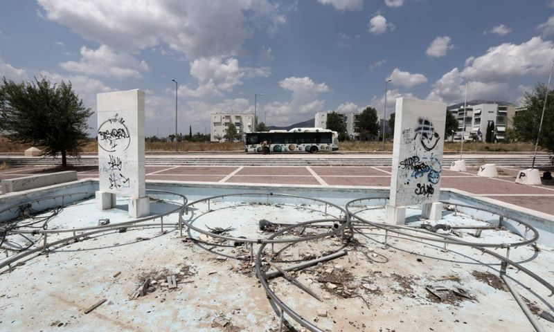 Заброшенные олимпийские сооружения в Афинах