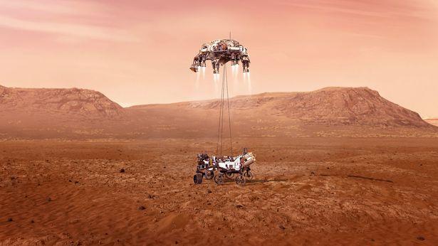 NASA начало посадку марсохода Perseverance