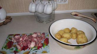 Картошка с мясом в духовке пошаговый рецепт