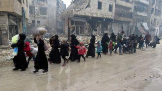 Разрушения в Алеппо