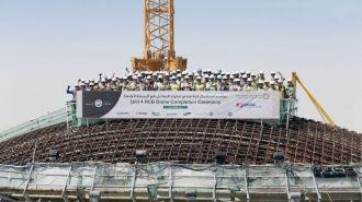 На АЭС «Барака» в Абу-Даби смонтировали купол над реакторной зоной