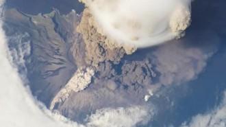 Вулкан Кальбуко из космоса