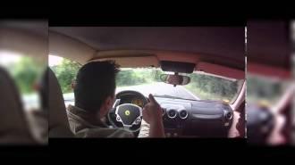 """Чудак"" чуть не разбил Ferrari F430"