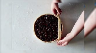 Как сделать идеальную решетку на пироге