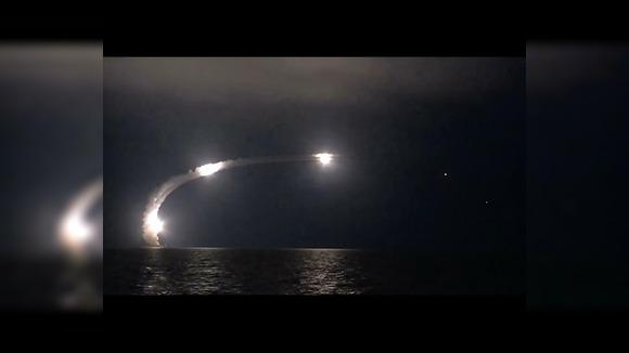 Массированный удар корабельными комплексами высокоточного оружия «Калибр НК» по объектам ИГИЛ
