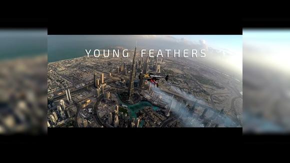 Над Дубаем на реактивном ранце-крыле