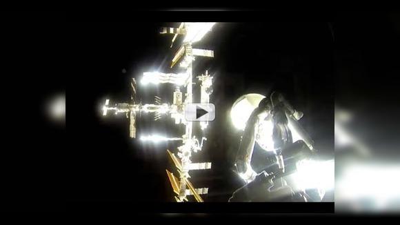 Стыковка космического корабля  Союз ТМА-16М с МКС