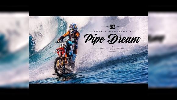 Мотоциклист научился ездить по воде