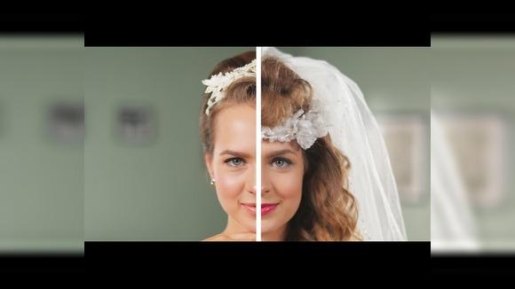 50 лет моды на свадебные прически в одном ролике