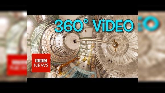 BBC сняла панорамное видео Большого адронного коллайдера